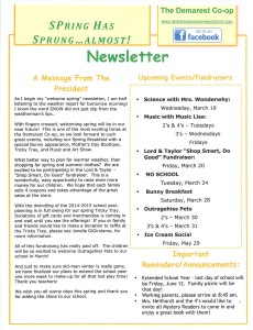 March Newsletter pg1